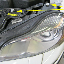 Volvo easy replacement headlamp