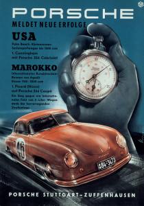 Porsche Racing Poster 1950's