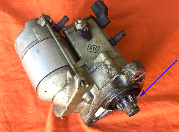 1996 Toyota T100 Starter Replacement Pawlik Automotive Repair. Starter Motor From Our Featured Toyota T100 The Blue Arrow Points To Severely Damaged Drive Gear When Key Is Turned Start Solenoid. Toyota. 1996 Toyota T100 Starter Diagram At Scoala.co