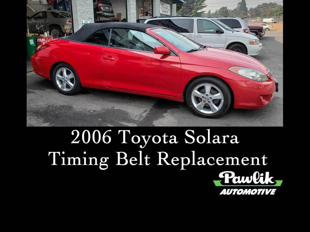 Marvelous 2006 Toyota Solara Timing Belt Replacement Pawlik Automotive Wiring Database Gramgelartorg