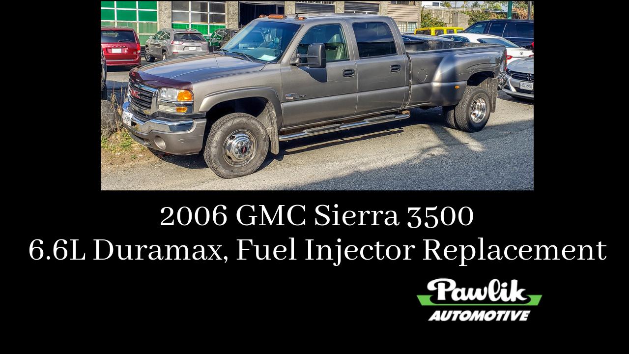 2006 GMC Sierra 3500, 6 6L Duramax, Fuel Injector Replacement